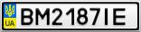 Номерной знак - BM2187IE