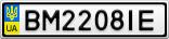 Номерной знак - BM2208IE