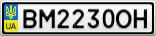 Номерной знак - BM2230OH