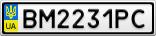 Номерной знак - BM2231PC