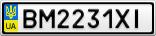 Номерной знак - BM2231XI