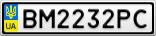 Номерной знак - BM2232PC
