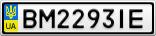 Номерной знак - BM2293IE