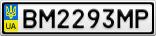 Номерной знак - BM2293MP