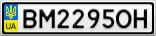 Номерной знак - BM2295OH