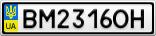 Номерной знак - BM2316OH
