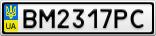 Номерной знак - BM2317PC