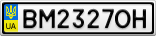 Номерной знак - BM2327OH