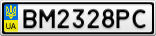 Номерной знак - BM2328PC