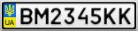 Номерной знак - BM2345KK