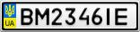 Номерной знак - BM2346IE
