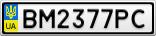 Номерной знак - BM2377PC