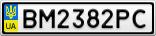 Номерной знак - BM2382PC