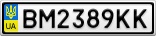 Номерной знак - BM2389KK