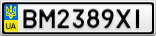 Номерной знак - BM2389XI