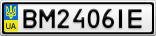 Номерной знак - BM2406IE