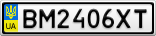Номерной знак - BM2406XT