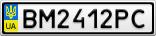 Номерной знак - BM2412PC