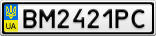 Номерной знак - BM2421PC