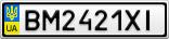 Номерной знак - BM2421XI