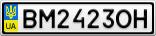 Номерной знак - BM2423OH