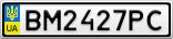 Номерной знак - BM2427PC