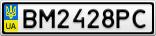 Номерной знак - BM2428PC