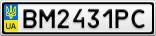 Номерной знак - BM2431PC