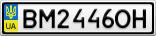 Номерной знак - BM2446OH