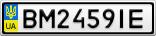 Номерной знак - BM2459IE