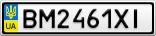 Номерной знак - BM2461XI