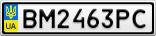 Номерной знак - BM2463PC