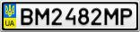 Номерной знак - BM2482MP
