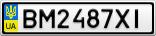 Номерной знак - BM2487XI