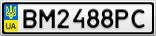 Номерной знак - BM2488PC