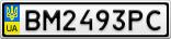 Номерной знак - BM2493PC