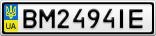 Номерной знак - BM2494IE