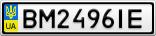 Номерной знак - BM2496IE