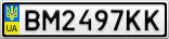Номерной знак - BM2497KK