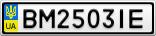 Номерной знак - BM2503IE