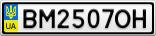 Номерной знак - BM2507OH