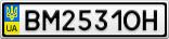 Номерной знак - BM2531OH