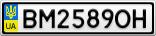 Номерной знак - BM2589OH