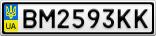 Номерной знак - BM2593KK