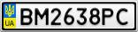 Номерной знак - BM2638PC