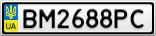 Номерной знак - BM2688PC