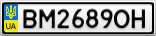 Номерной знак - BM2689OH
