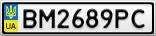 Номерной знак - BM2689PC