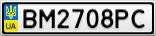 Номерной знак - BM2708PC