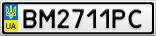 Номерной знак - BM2711PC